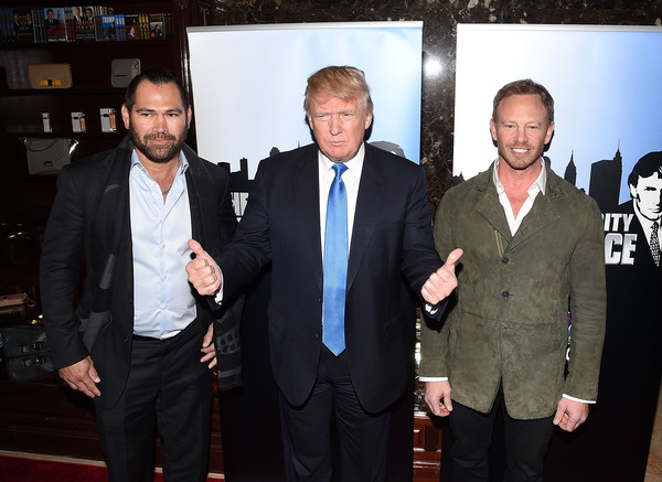 Photo of Donald Trump & his friend basketball player  Johnny Damon -