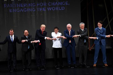 Donald Trump Malcolm Turnbull 31st Southeast Asian Nations (ASEAN) Summit