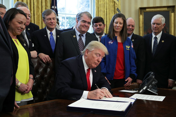 Trump Signs Bill to Increase Funding to NASA
