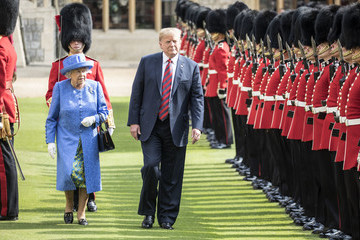 Donald Trump - US President The President Of The United States And Melania Trump Meet HM Queen