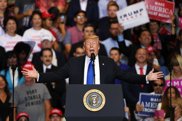 Donald Trump President Trump Holds MAGA Rally In Las Vegas