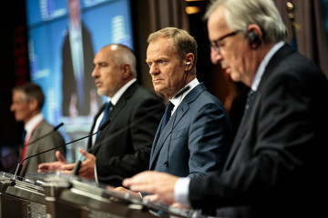 Donald Tusk Political Leaders Attend The July 2018 EU Council Meeting - Day Two