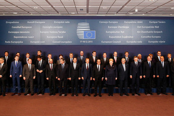 Donald Tusk Francois Hollande European Leaders Attend the European Council Meeting in Brussels