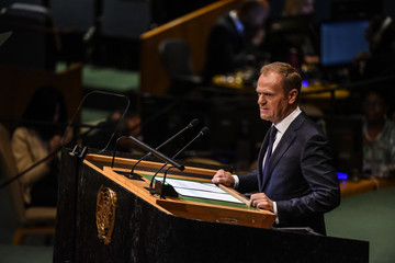Donald Tusk World Leaders Address The United Nations General Assembly