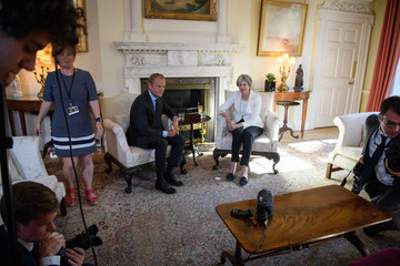 Donald Tusk Theresa May Hosts The President Of The European Council