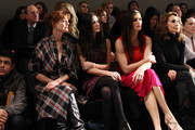 Actors Susan Sarandon, Demi Moore and Brooke Shields attend the Donna Karan Collection Fall 2010 Fashion Show during Mercedes-Benz Fashion Week at 711 Greenwich Street on February 15, 2010 in New York City.