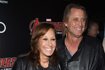 Donna Karan Russell James The Cinema Society Screening Of Marvel's 'Avengers: Age of Ultron' - Arrivals