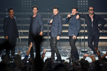 Donnie Wahlberg Danny Wood New Kids on the Block Perform in Vegas