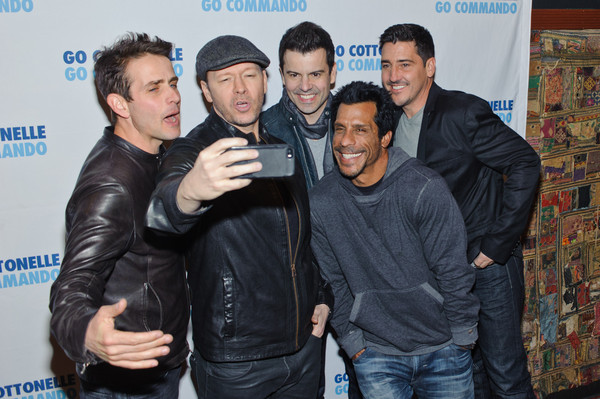 New Kids On The Block In Concert - New York, NY [social group,event,premiere,jacket,performance,new kids on the block,jonathan knight,jordan knight,danny wood,joey mcintyre,donnie wahlberg,new york,gramercy theatre,band,new kids on the block in concert]