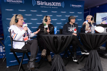 Donnie Wahlberg Jenny McCarthy Hosts Her SiriusXM Show From Grant Park In Chicago, IL