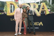 """James Bobin, Isabela Moner and Eugenio Derbez attend the """"Dora and the Lost City of Gold"""" Mexico Photocall at Cinepolis Parque Toreo on September 8, 2019 in Mexico City, Mexico."""