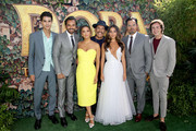 "(L-R) Jeff Wahlberg, Eugenio Derbez, Eva Longoria, Danny Trejo, Isabela Moner, Michael Peña, and Nicholas Coombe attend the ""Dora and the Lost City of Gold"" World Premiere at the  Regal LA Live on July 28, 2019 in Los Angeles, California."