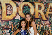 "(L-R) Madelyn Miranda and Isabela Moner attend the ""Dora and the Lost City of Gold"" World Premiere at the  Regal LA Live on July 28, 2019 in Los Angeles, California."