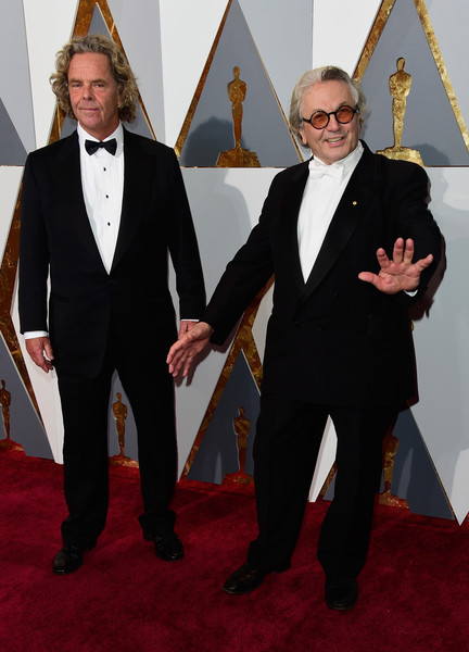 88th Annual Academy Awards - Red Carpet Pictures [suit,formal wear,tuxedo,carpet,red carpet,fashion,event,flooring,arrivals,doug mitchell,george miller,academy awards,hollywood highland center,california,88th annual academy awards]