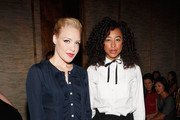 Jessie Malakouti (L) and Corinne Bailey Rae attend the Douglas Hannant Spring 2012 fashion show during Mercedes-Benz Fashion Week at The Plaza Hotel on September 14, 2011 in New York City.