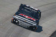 Joe Nemechek, driver of the #8 ACME Grocery Store Chevrolet, practices for the NASCAR Camping World Truck Series JEGS 200 at Dover International Speedway on May 3, 2018 in Dover, Delaware.