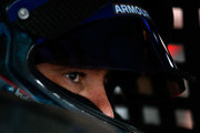 Elliott Sadler, driver of the #1 OneMain Financial Chevrolet, sits in his car during practice for the NASCAR Xfinity Series Bar Harbor 200 presented by Sea Watch International at Dover International Speedway on October 5, 2018 in Dover, Delaware.