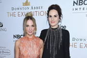 "Joanne Froggatt and Michelle Dockery attend the ""Downton Abbey: The Exhibition"" Gala Receptionon November 17, 2017 in New York City."