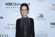 "Michelle Dockery attends the ""Downton Abbey: The Exhibition"" Gala Receptionon November 17, 2017 in New York City."