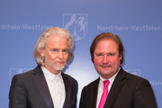 Hermann Buehlbecker and Lutz Lienenkaemper during the bestowal of the Order of Merit of North Rhine-Westphalia (Verdienstorden des Landes Nordrhein-Westfalen) on July 2, 2018 in Duesseldorf, Germany. Minister of Finance Lutz Lienenkaemper, representing the Prime Minister, has honored 18 citizens with the Order of Merit of North Rhine-Westphalia for their outstanding commitment.