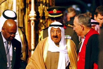 Dr John Hall The Amir Of Kuwait On His State Visit To The UK