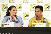 Lauren Ash and Marcus Scribner attend DreamWorks She-Ra and the Princesses of Power at San Diego Comic-Con 2019 at San Diego Convention Center on July 19, 2019 in San Diego, California.