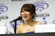 """Karen Fukuhara speaks onstage during DreamWorks """"She-Ra and the Princesses of Power"""" ˆat WonderCon at Anaheim Convention Center on March 30, 2019 in Anaheim, California."""