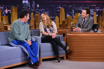 "Drew Barrymore Drew Barrymore & Adam Sandler Visit ""The Tonight Show Starring Jimmy Fallon"""