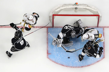 Drew Doughty Jonathan Quick Vegas Golden Knights v Los Angeles Kings - Game Three