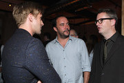 "(L-R) Actor Ryan Gosling, Musician/Actor Dave Matthews and Director Nicolas Winding Refn attend the ""Drive"" party hosted by GREY GOOSE Vodka at Soho House Pop Up Club during the 2011 Toronto International Film Festival on September 10, 2011 in Toronto, Canada."