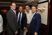 (L-R) David Blumenfeld, Tony Abrams, Nick English, and founder and CEO of Dujour Jason Binn attend DuJour's Jason Binn and Bremont Watch Company's Nick English intimate influencers dinner at Harry Cipriani on October 13, 2015 in New York City.