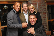 (L-R) Chairman of Impact Republic Jarrin Kirksey, Digital Chief Officer for Impact Republic Robert Caruso, Sage Robbins and Life Coach Tony Robbins attend DuJour Magazine's Jason Binn and Invicta Watches in the welcoming of Tony Robbins to New York at Catch NYC on November 17, 2014 in New York City.