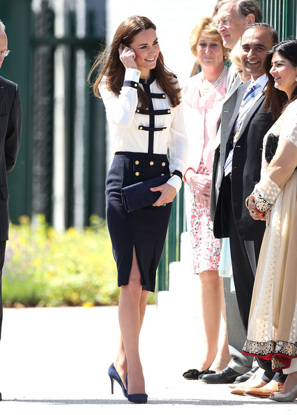 Catherine, Duchess of Cambridge meets the crowd during an official visit to Bletchley Park on June 18, 2014 in Bletchley, England.