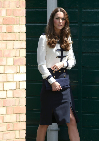 Catherine, Duchess of Cambridge attends a official visit to Bletchley Park on June 18, 2014 in Bletchley, England.