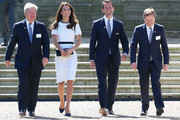 Sir Keith Mills, Catherine, Duchess of Cambridge, Sir Ben Ainslie and Charles Dunstone at National Maritime Museum in Greenwich for the Ben Ainslie America's Cup Launch on June 10, 2014 in London, England.
