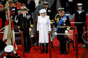 The Duchess Of Cornwall And The Prince Of Wales Attend The Commissioning Ceremony Of HMS Prince Of Wales