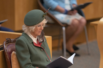 Duchess of Cornwal Queen Elizabeth Attends The Opening Of The Scottish Parliament