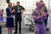 Members of the NHS, Miltary and construction sector attend as Prince William, Duke of Cambridge opens the new NHS Nightingale Hospital via video link on April 16, 2020 in Birmingham, England. The Coronavirus (COVID-19) pandemic has spread to many countries across the world, claiming over 130,000 lives and infecting over 2 million people.