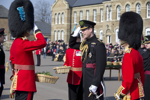 The Duke of Cambridge Visits The 1st Battalion Irish Guards For The St. Patrick's Day Parade