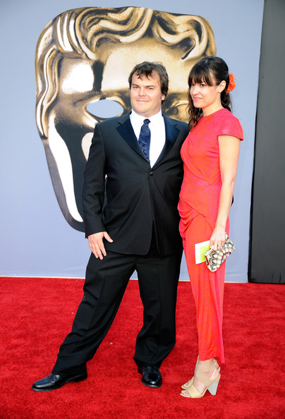 Actor Jack Black (L) and Tanya Haden arrive at the BAFTA Brits To Watch event held at the Belasco Theatre on July 9, 2011 in Los Angeles, California.