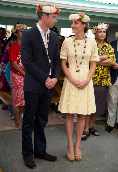 Prince William, Duke of Cambridge and Catherine, Duchess of Cambridge visit Nauti Primary School on September 18, 2012 in Tuvalu. Prince William, Duke of Cambridge and Catherine, Duchess of Cambridge are on a Diamond Jubilee tour representing the Queen taking in Singapore, Malaysia, the Solomon Islands and Tuvalu.