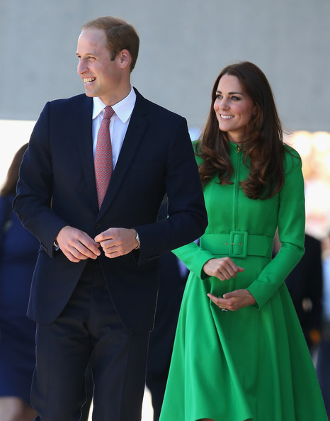 Catherine, Duchess of Cambridge and Prince William, Duke of Cambridge arrive at the Portrait Gallery on April 24, 2014 in Canberra, Australia. The Duke and Duchess of Cambridge are on a three-week tour of Australia and New Zealand, the first official trip overseas with their son, Prince George of Cambridge.