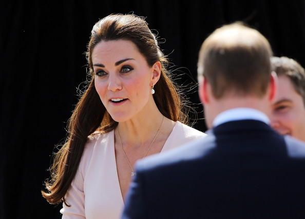 Catherine, Duchess of Cambridge and Prince William, Duke of Cambridge arrive at the Playford Civic Centre on April 23, 2014 in Adelaide, Australia. The Duke and Duchess of Cambridge are on a three-week tour of Australia and New Zealand, the first official trip overseas with their son, Prince George of Cambridge.