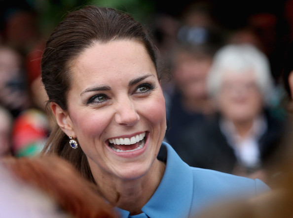 Catherine, Duchess of Cambridge smiles as she meets the gathered crowds in Seymour Square during Day 4 of a Royal Tour to New Zealand on April 10, 2014 in Blenheim, New Zealand. The Duke and Duchess of Cambridge are on a three-week tour of Australia and New Zealand, the first official trip overseas with their son, Prince George of Cambridge.
