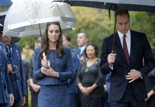 Catherine, Duchess of Cambridge and Prince William, Duke of Cambridge visit the Royal New Zealand Police College on April 16, 2014 in Wellington, New Zealand. The Duke and Duchess of Cambridge are on a three-week tour of Australia and New Zealand, the first official trip overseas with their son, Prince George of Cambridge.