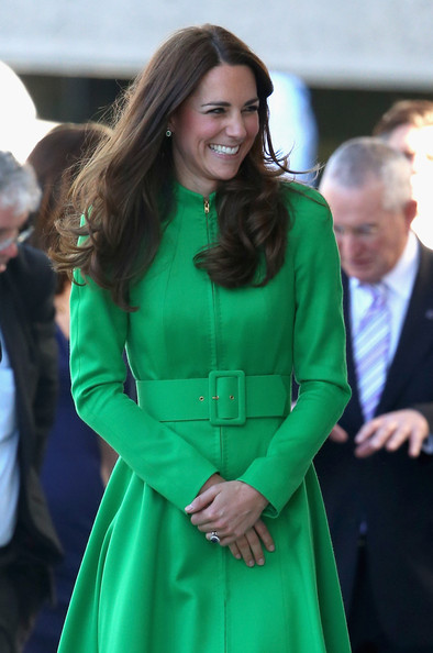 Catherine, Duchess of Cambridge arrives at the Portrait Gallery on April 24, 2014 in Canberra, Australia. The Duke and Duchess of Cambridge are on a three-week tour of Australia and New Zealand, the first official trip overseas with their son, Prince George of Cambridge.