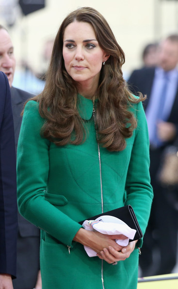 Catherine, Duchess of Cambridge visits the Avanti Drome on April 12, 2014 in Hamilton, New Zealand. The Duke and Duchess of Cambridge are on a three-week tour of Australia and New Zealand, the first official trip overseas with their son, Prince George of Cambridge.