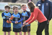 Catherine, Duchess of Cambridge pictured as she visits Salthill GAA club and participates in some hurling and gaelic football on the third day of the official visit to Ireland on March 5, 2020 in Galway, Ireland.