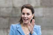 Catherine, Duchess of Cambridge attends the Beating of the Retreat at the Palace of Holyroodhouse on May 27, 2021 in Edinburgh, Scotland.