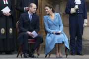Prince William, Duke of Cambridge and Catherine, Duchess of Cambridge attend the  Beating of the Retreat at the Palace of Holyroodhouse on May 27, 2021 in Edinburgh, Scotland.